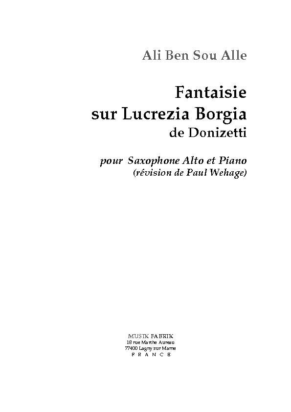 Fantaisie sur Luciezia Borgia