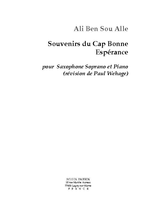 Souvenir du Cap Bonne Esp�rence