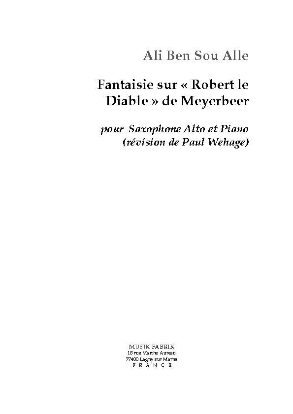 Fantaisie sur Robert Le Diable