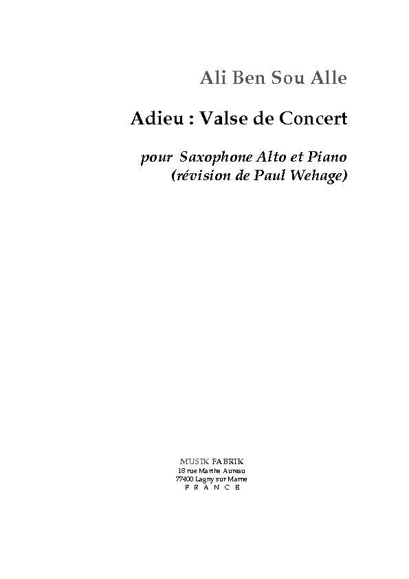 Adieu concert waltz