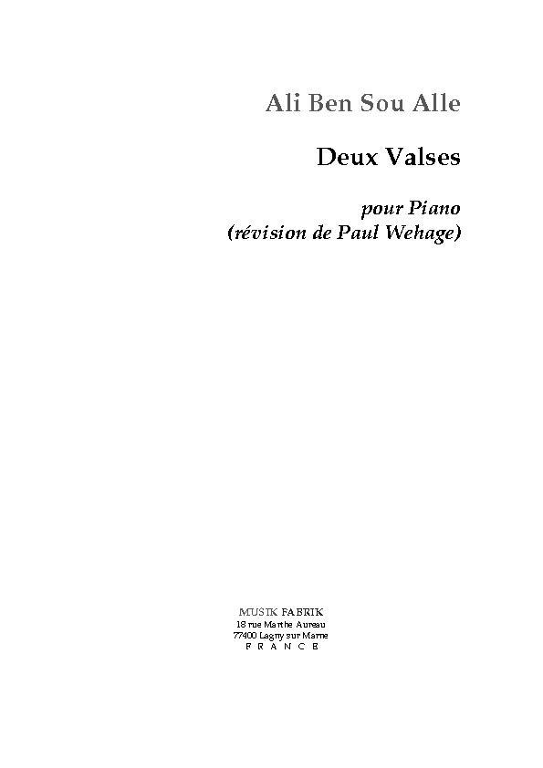 Deux Valses pour Piano